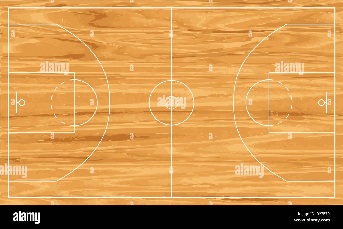 wooden basketball court vector illustration stock photo 53025275 rh alamy com basketball court vector free download basketball court vectorworks