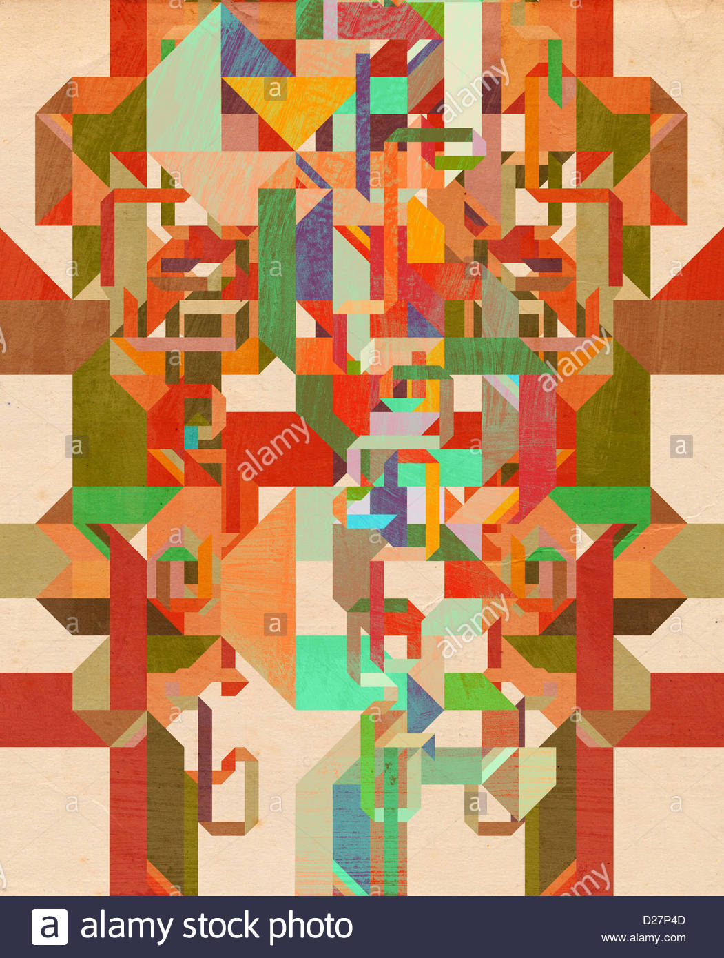 Multicolored geometric abstract - Stock Image