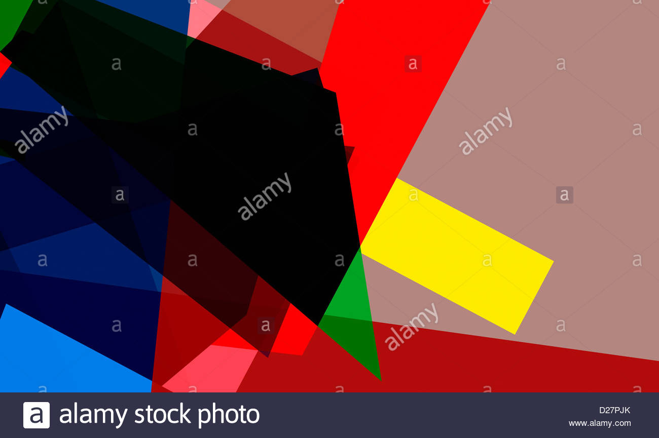 Abstract multicolored geometric shapes - Stock Image
