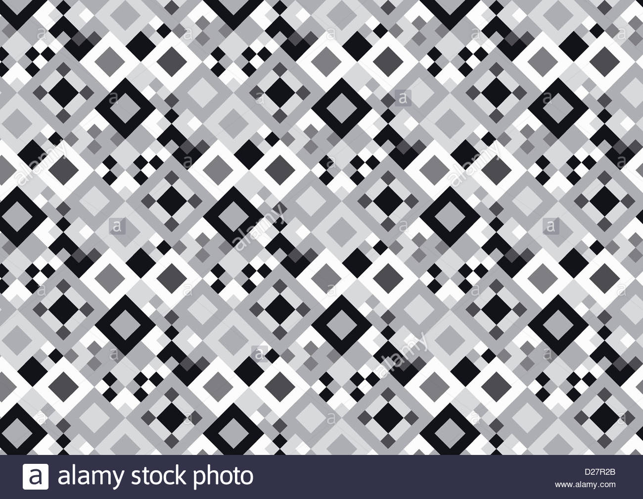Abstract black and white pattern - Stock Image