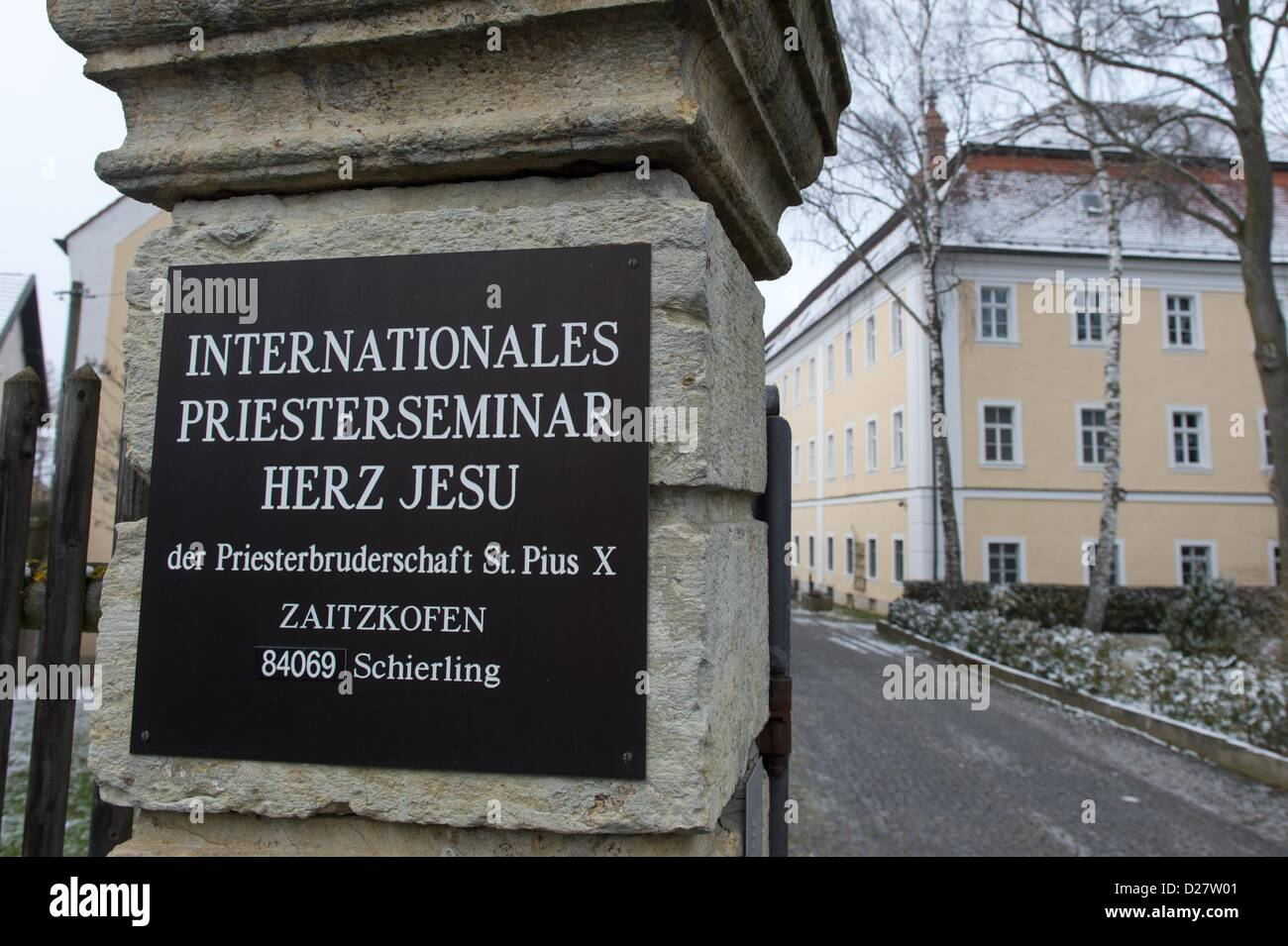 View of the theological college of the Society of St. Pius X in Zaitzkofen, Germany, 16 January 2013. Richard Williamson Stock Photo