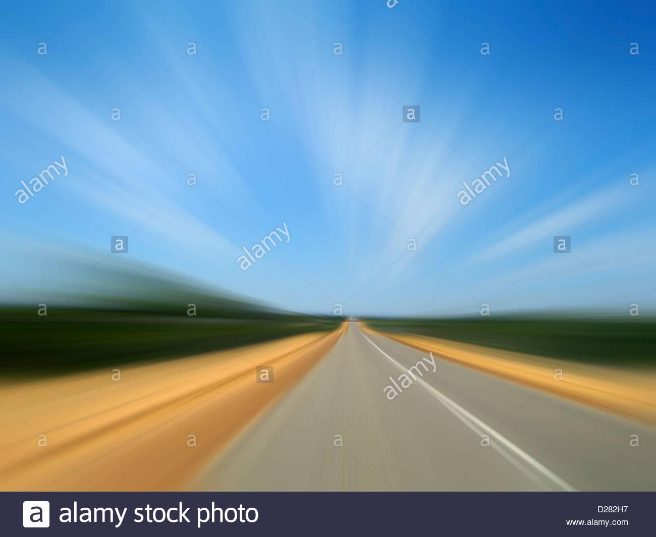 Defocused road - Stock Image