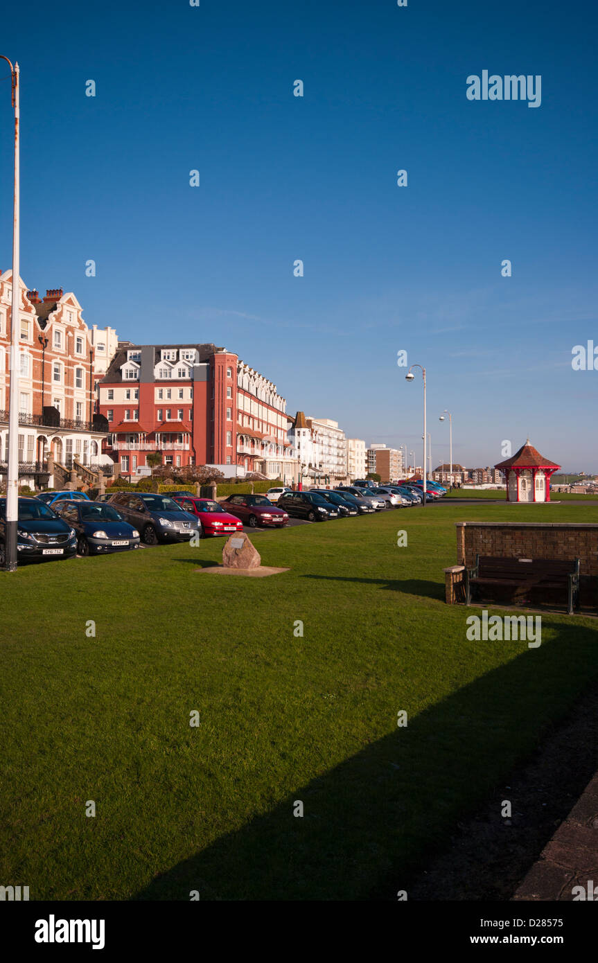 Bexhill on Sea Seafront East Sussex UK - Stock Image