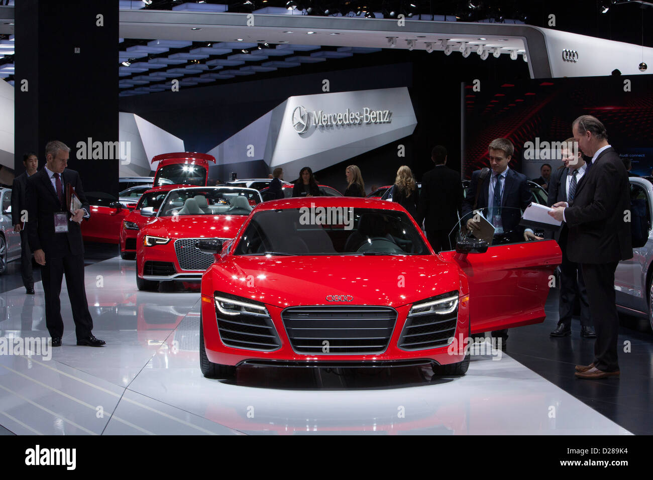 Detroit, Michigan - The Audi R8 on display at the North American International Auto Show. - Stock Image