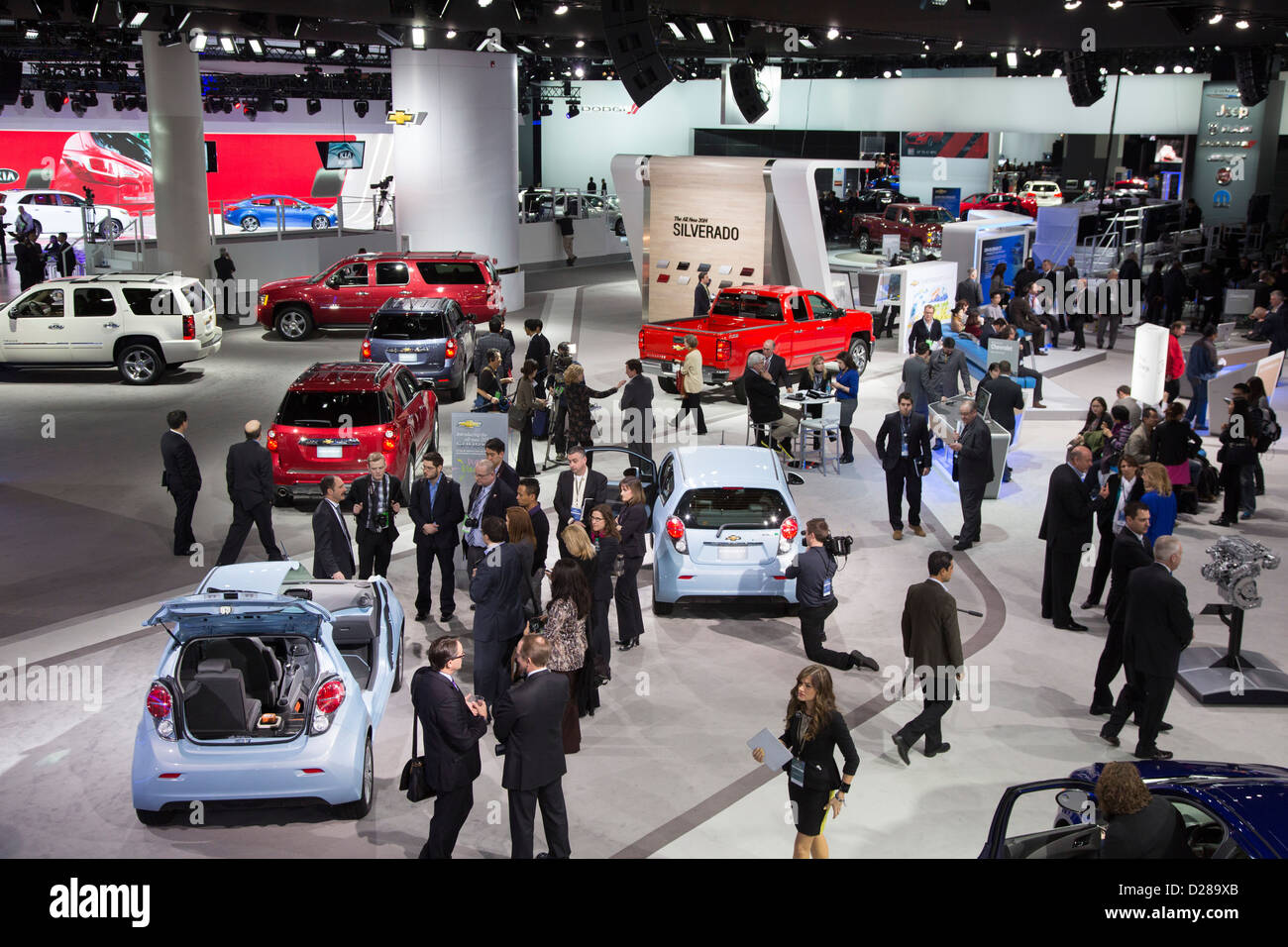 Detroit, Michigan - Part of the General Motors display at the North American International Auto Show. - Stock Image