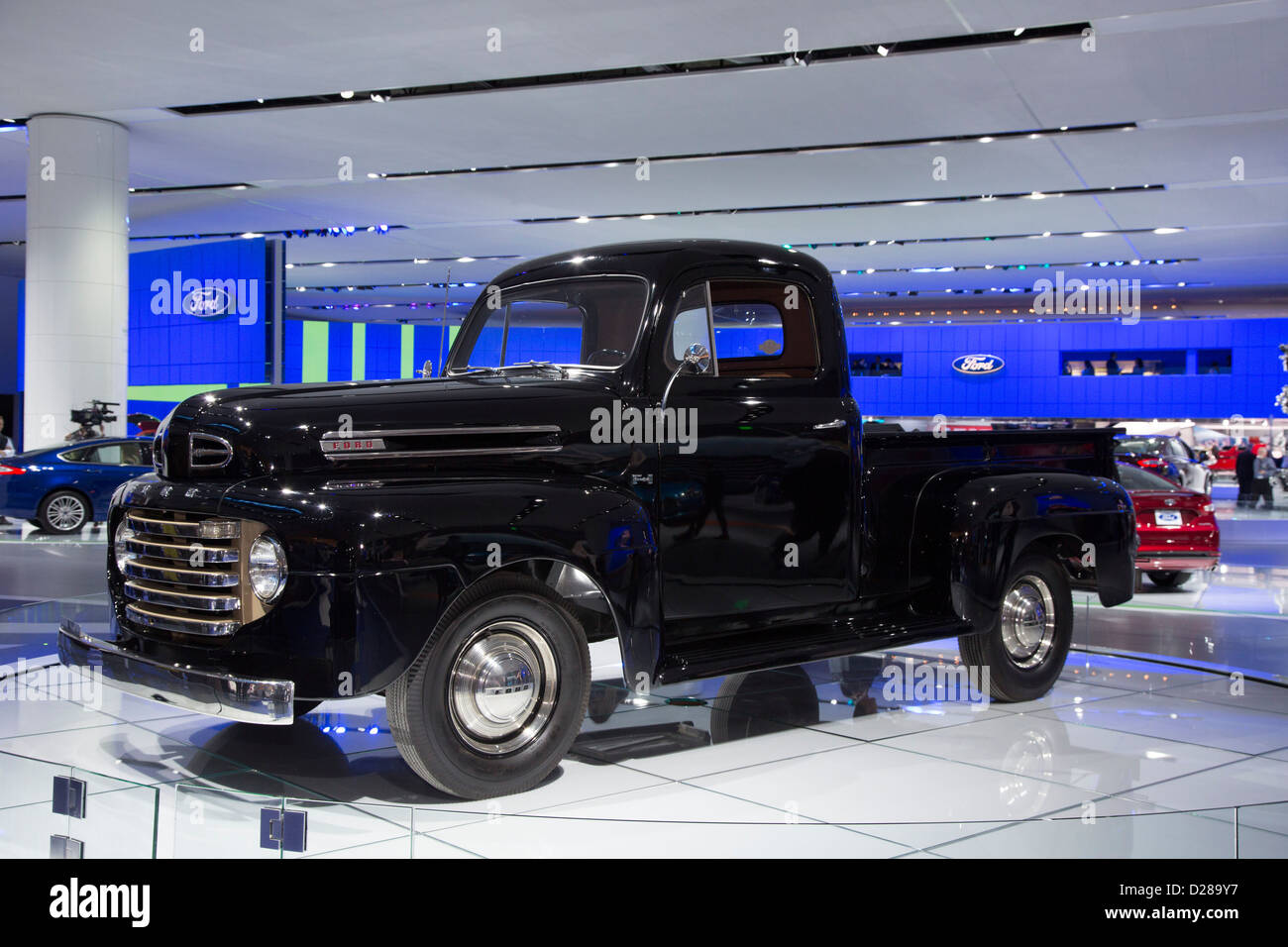 American Ford Truck Stock Photos Images 1948 Grain A F 1 Pickup On Display At The North International Auto