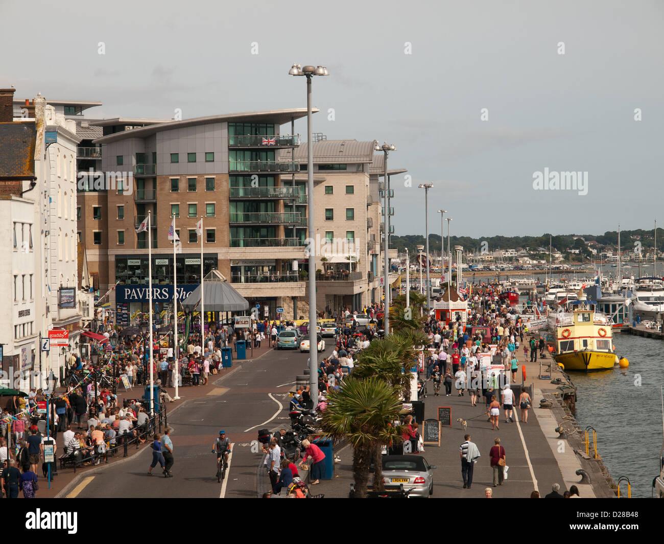Poole harbour front Dorset England UK - Stock Image