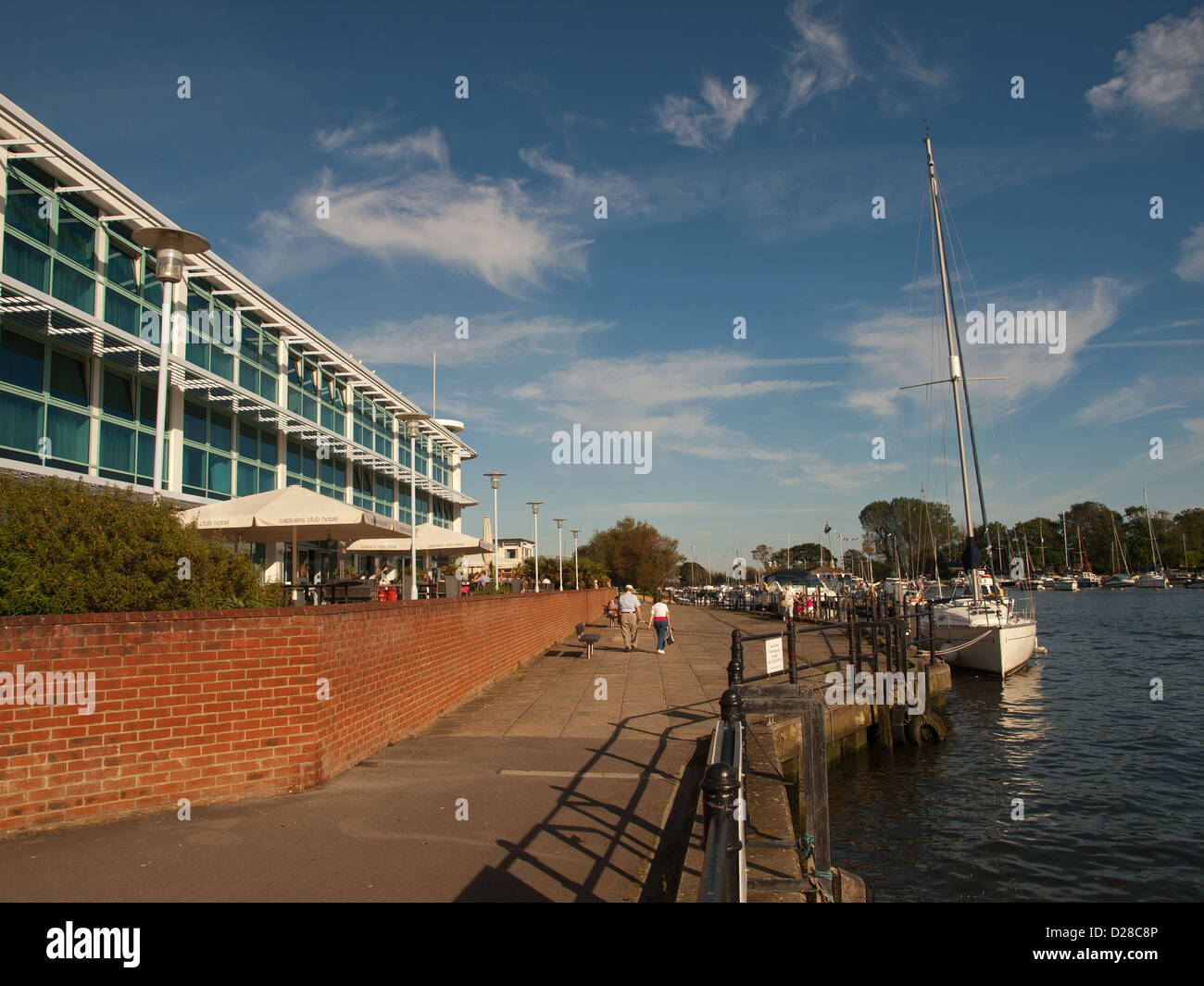 Captains Club Hotel Christchurch Quay Dorset England UK - Stock Image