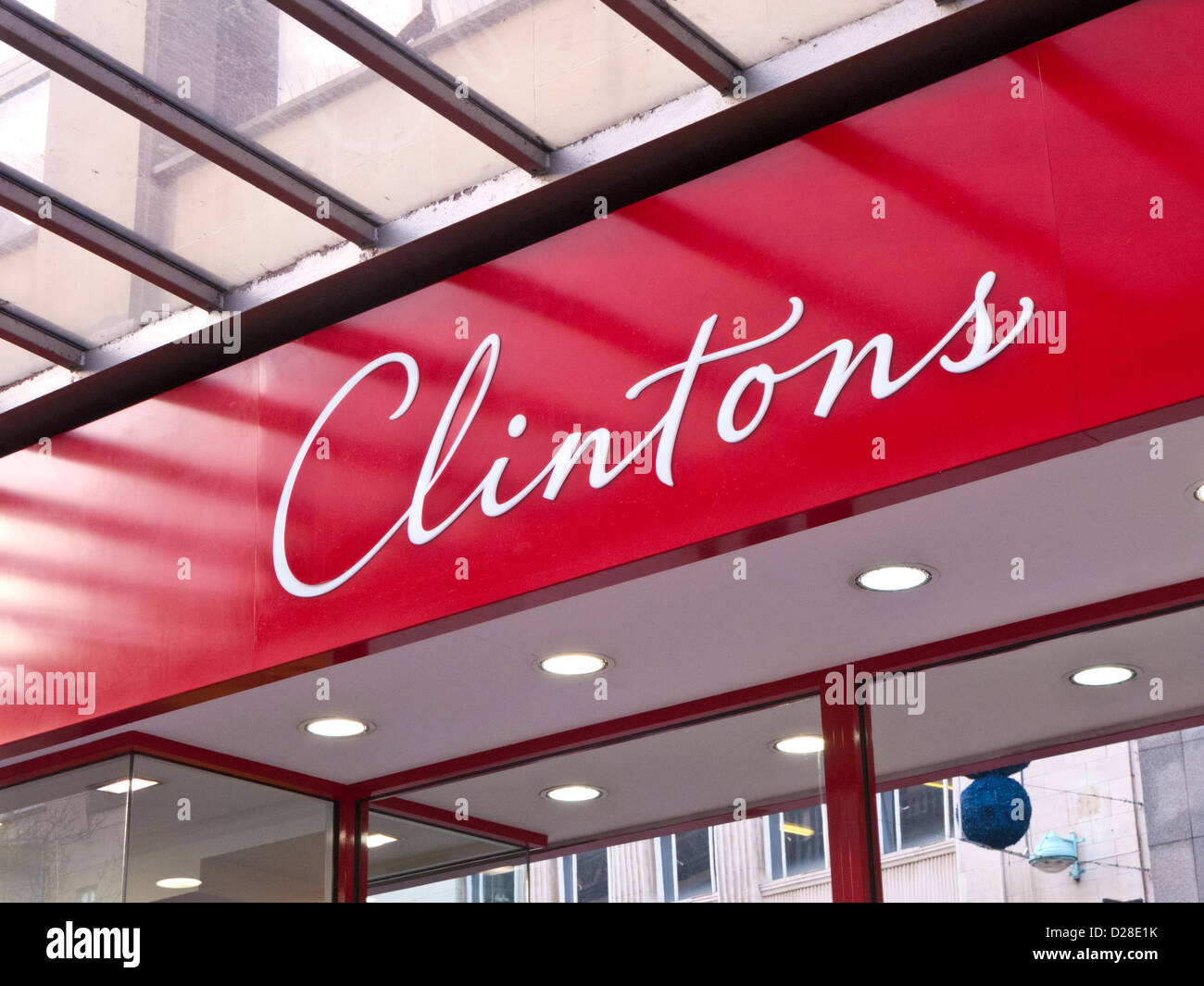 Clintons shop sign - Stock Image