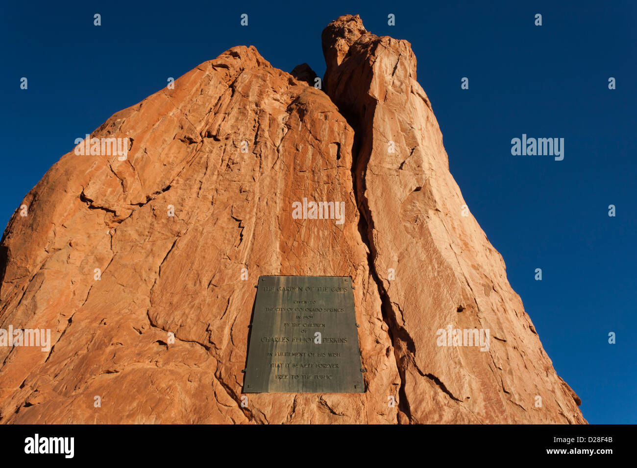 USA, Colorado, Colorado Springs, Garden of the Gods, rock formations, dawn - Stock Image