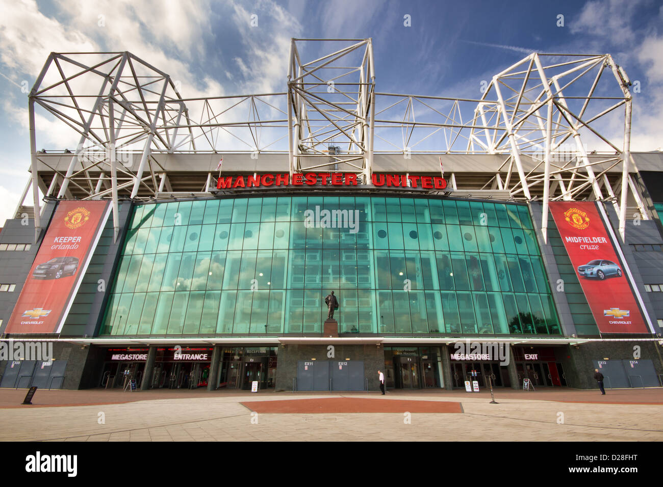 old trafford football stadium home of manchester united football stock photo alamy https www alamy com stock photo old trafford football stadium home of manchester united football club 53048292 html