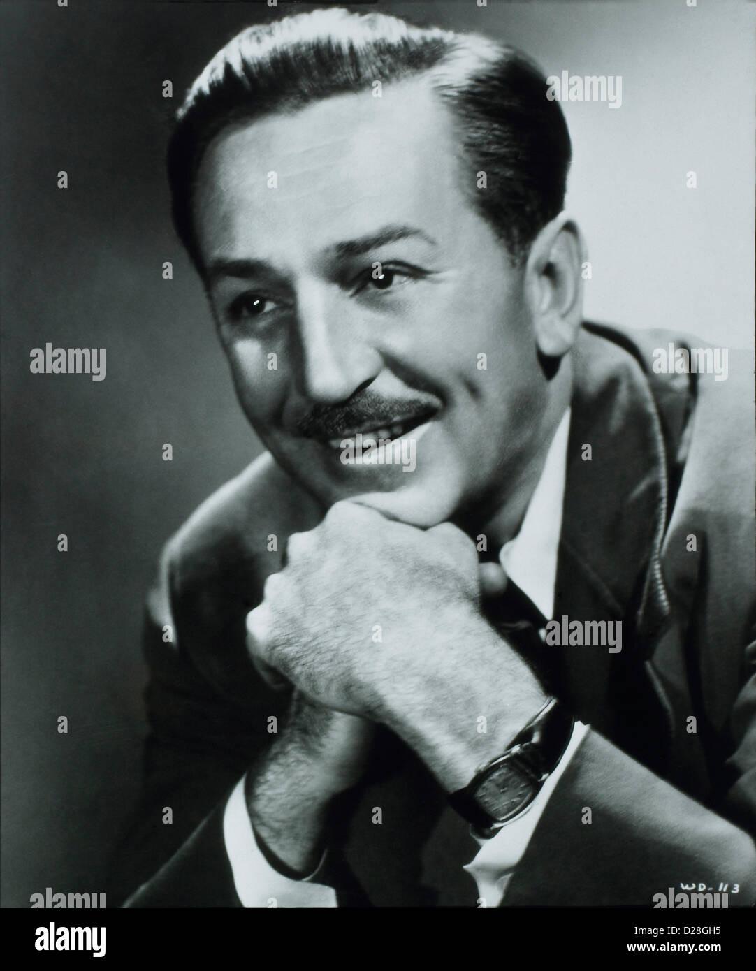 Walt Disney (1901-1966) Portrait, Circa 1940's - Stock Image