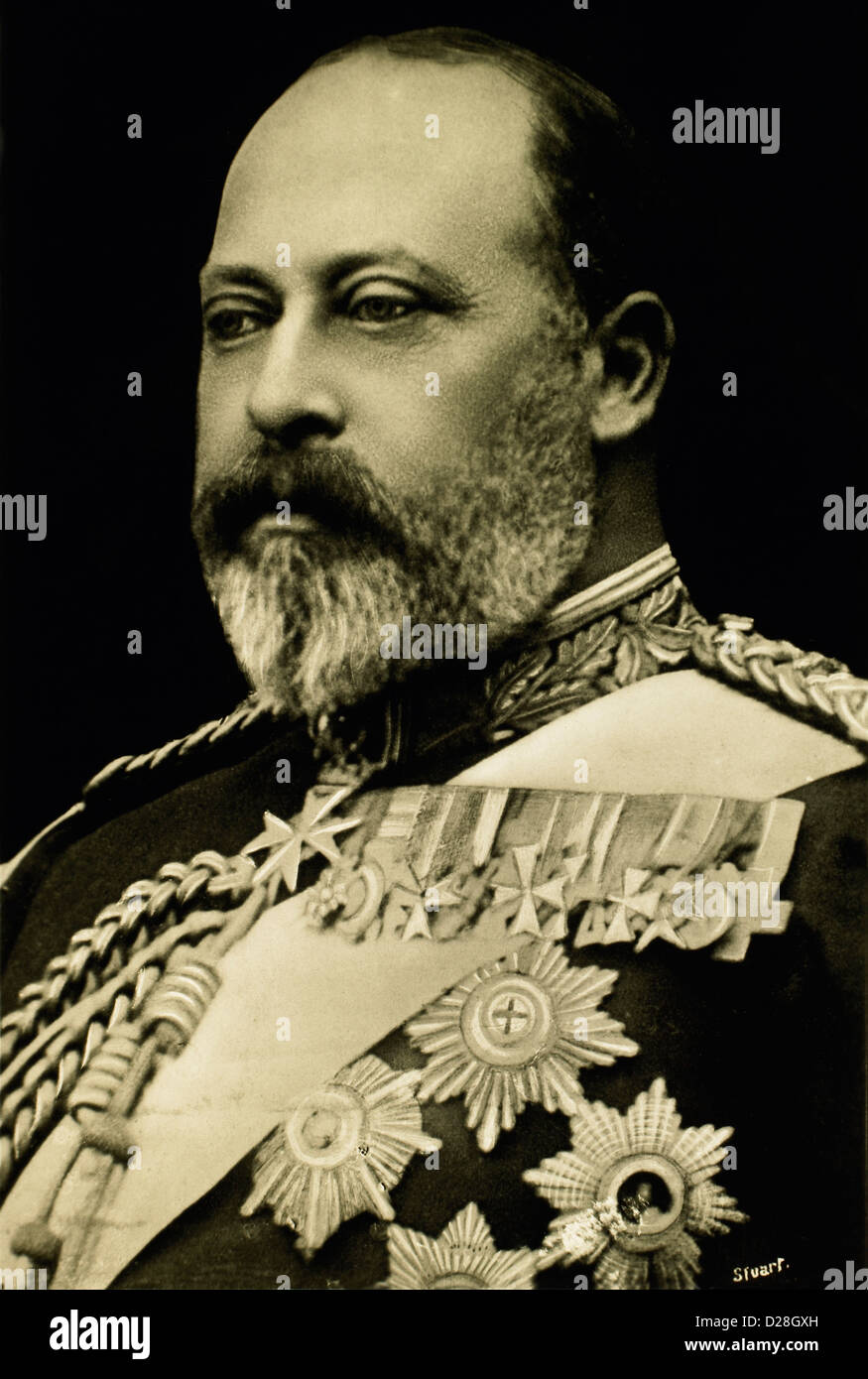 Edward VII (1841-1910) King of England 1901-10, portrait, 1901 - Stock Image