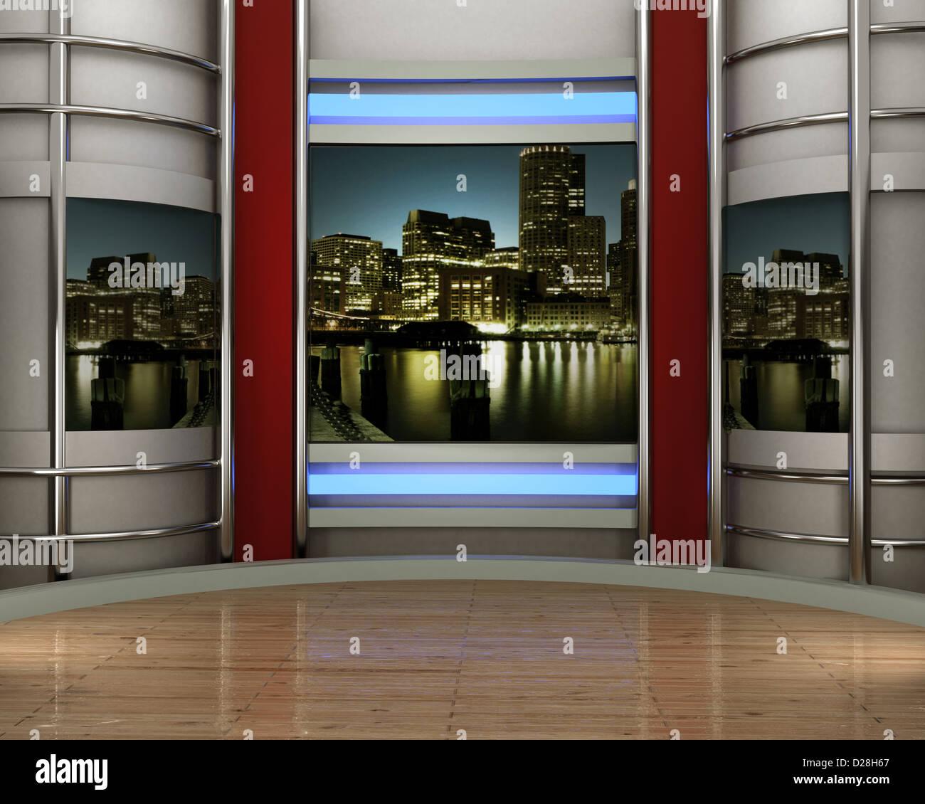 3d studio tv virtual set Stock Photo: 53049535 - Alamy