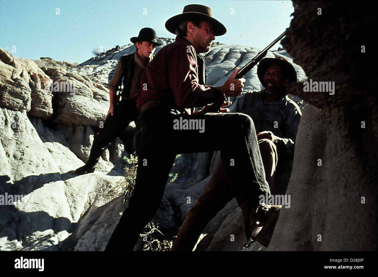 Erbarmungslos  Unforgiven  Clint Eastwood So laesst sich Bill Munny (Clint Eastwood,m) ueberreden, noch einmal loszuziehen, - Stock Image