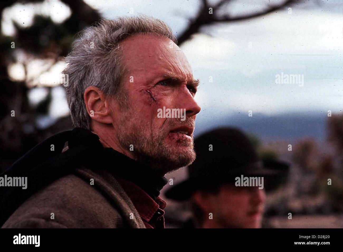 Erbarmungslos  Unforgiven  Clint Eastwood Tausend Dollar Praemie winken Bill (Clint Eastwood) fuer die Ermordung - Stock Image