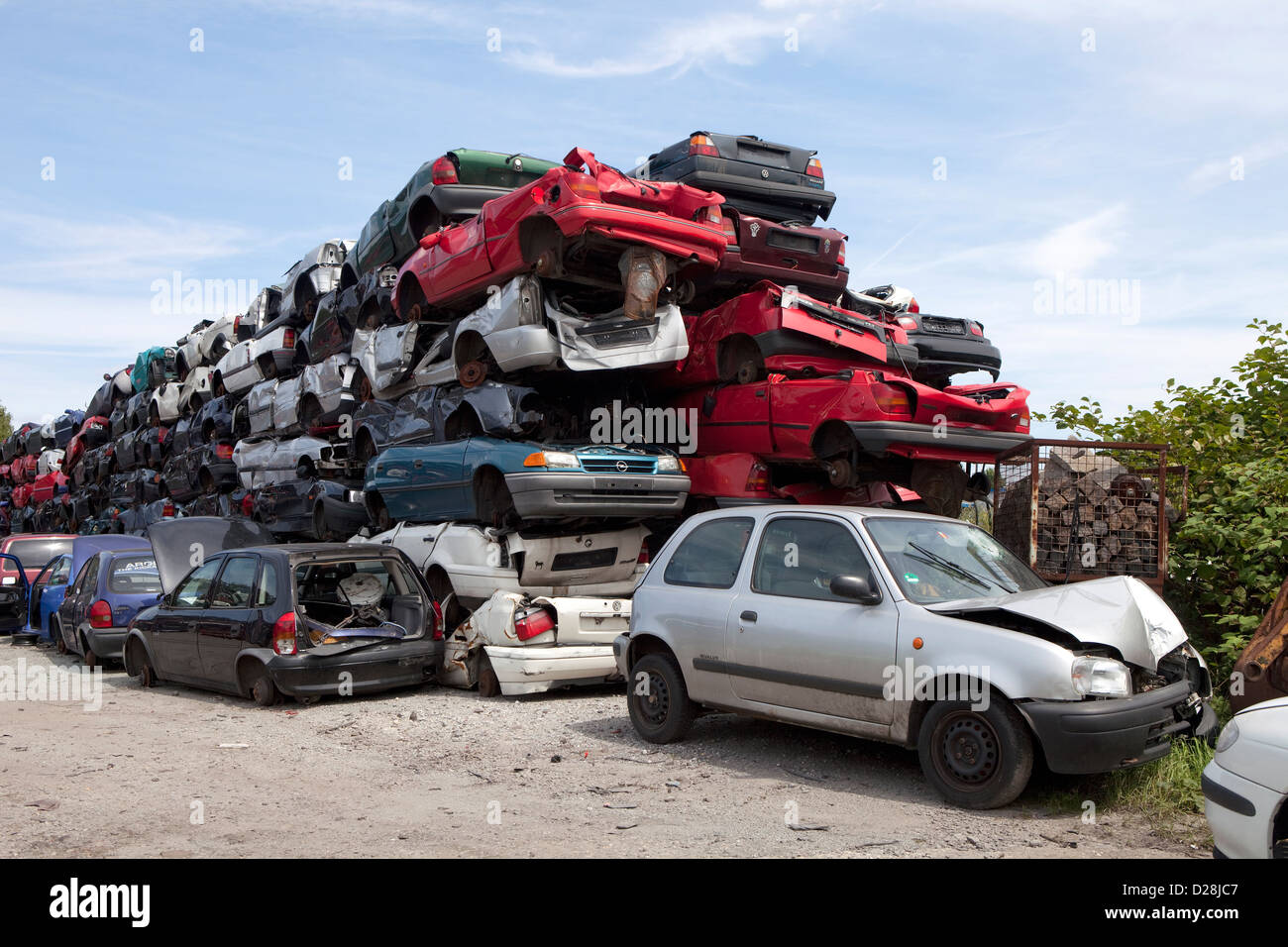 Ruhr, Germany, old cars in a junkyard Stock Photo: 53050487 - Alamy