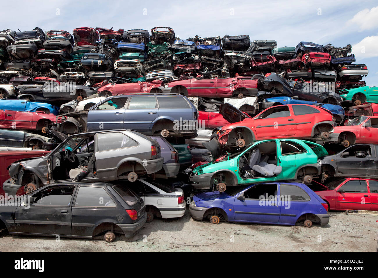 Ruhr, Germany, over stacked cars in a junkyard Stock Photo: 53050539 ...