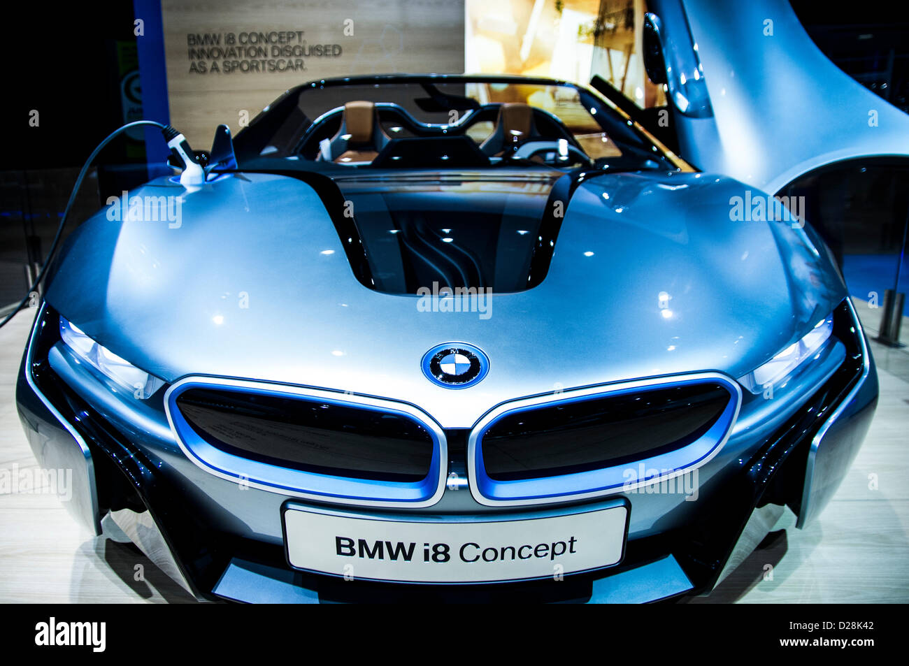 Bmw I8 Concept Electric Car In American International Auto Show