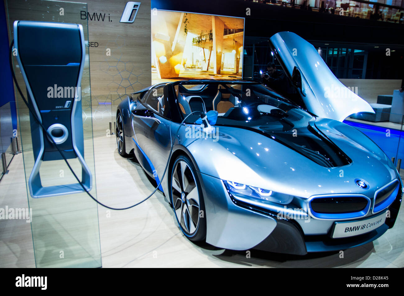 BMW I8 Concept Electric Car In American International Auto Show NAIAS 2013