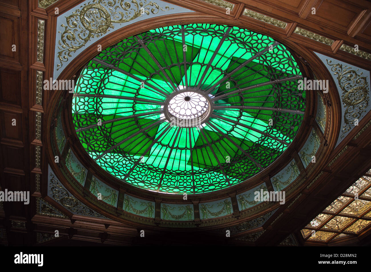 interior roof of Waverley station, Edinburgh, Scotland, UK - Stock Image