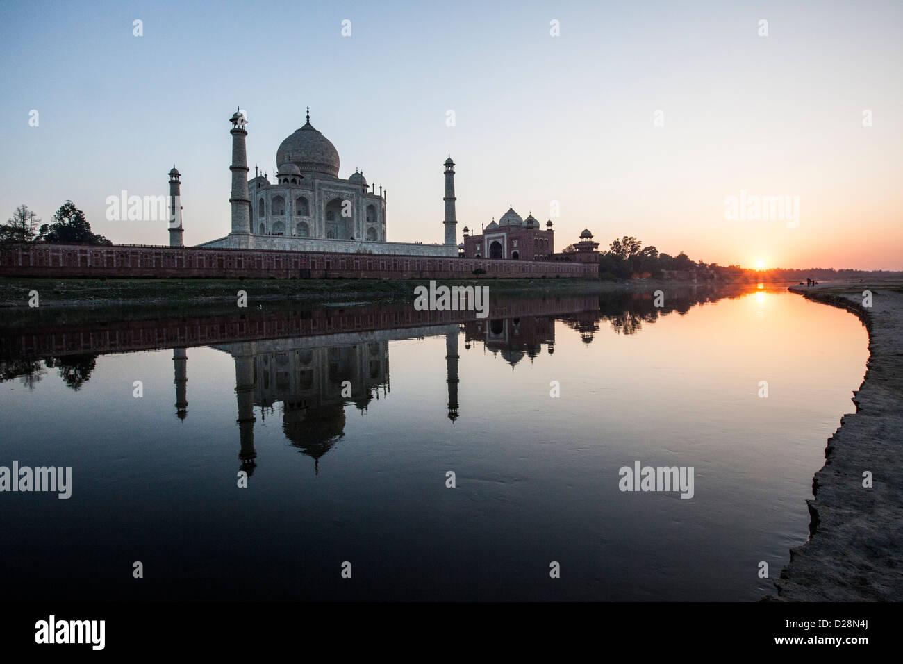 Taj Mahal, Agra India - Stock Image