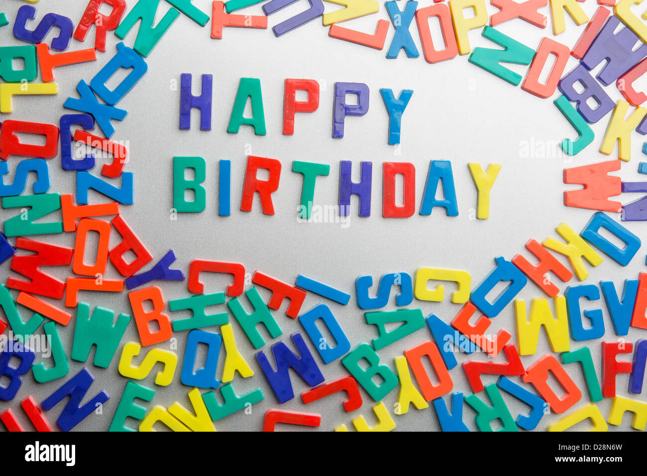 Happy Birthday Refrigerator Magnets Spell A Message Out Of A
