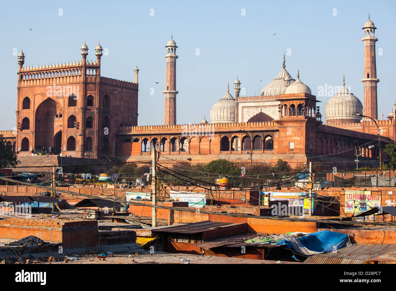 The Friday Mosque or Jama Masjid in Delhi India - Stock Image