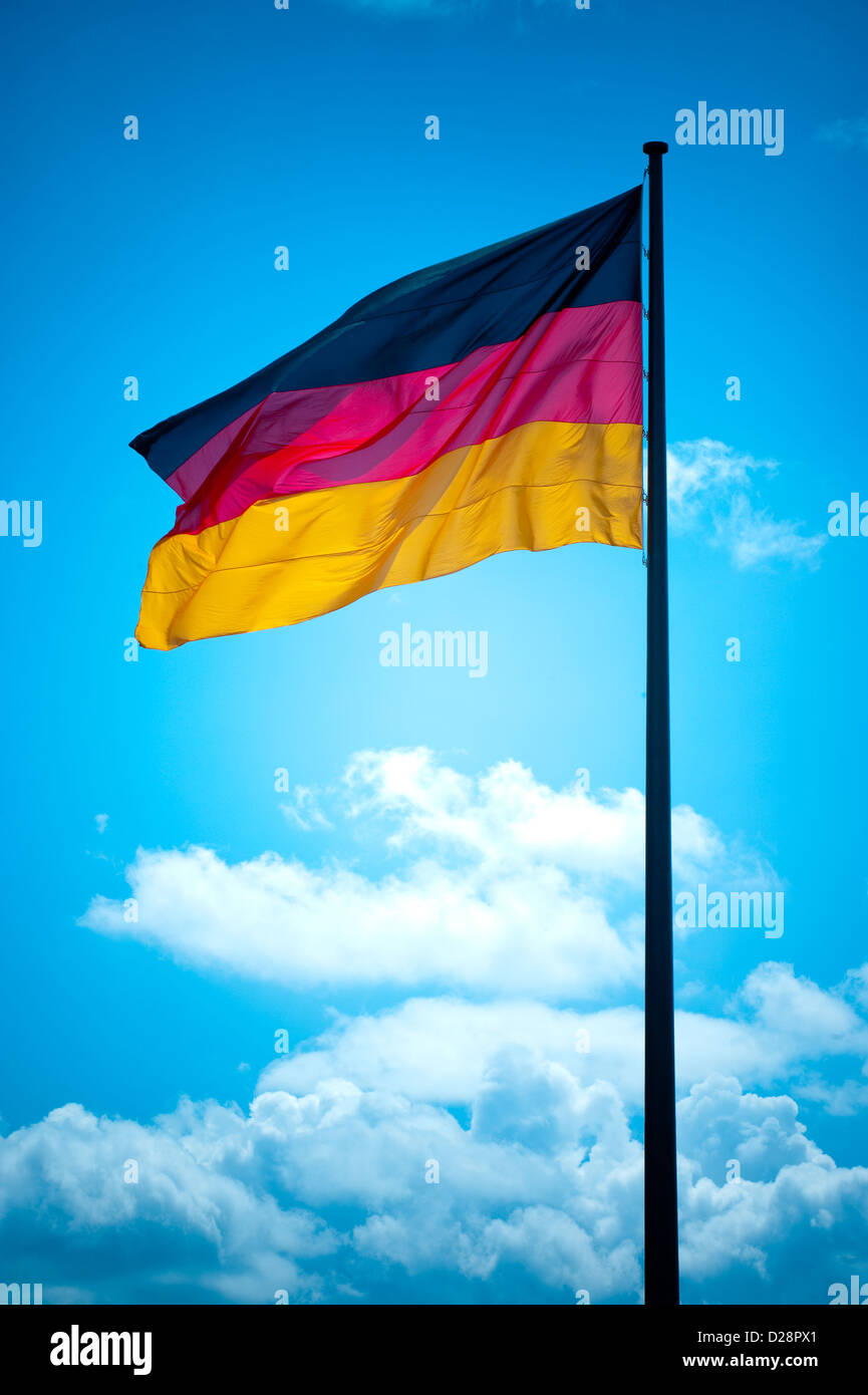 Berlin, Germany, Germany flag - Stock Image