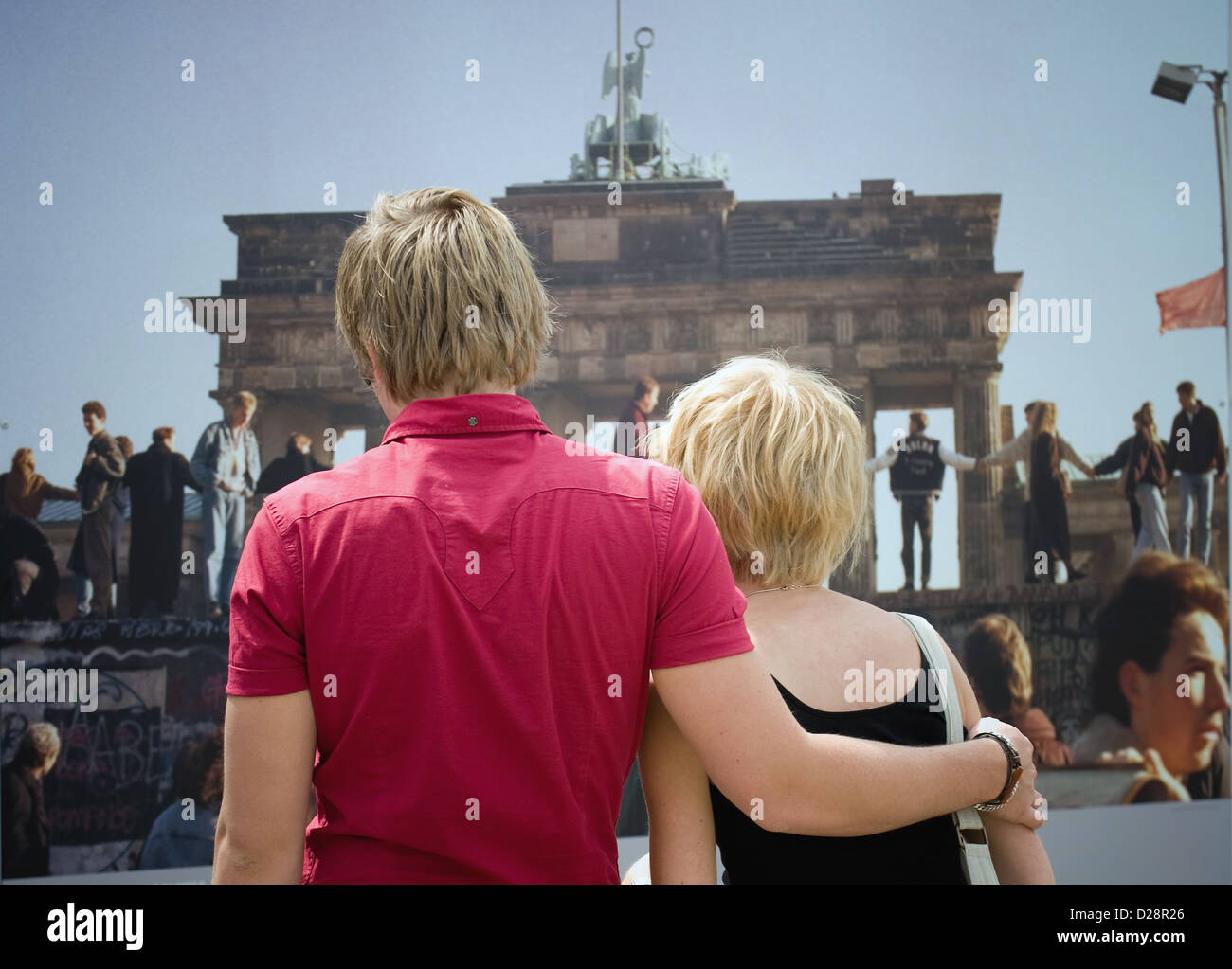 Berlin, Germany, at the exhibition Paerchen 20 Year anniversary at Alexanderplatz - Stock Image
