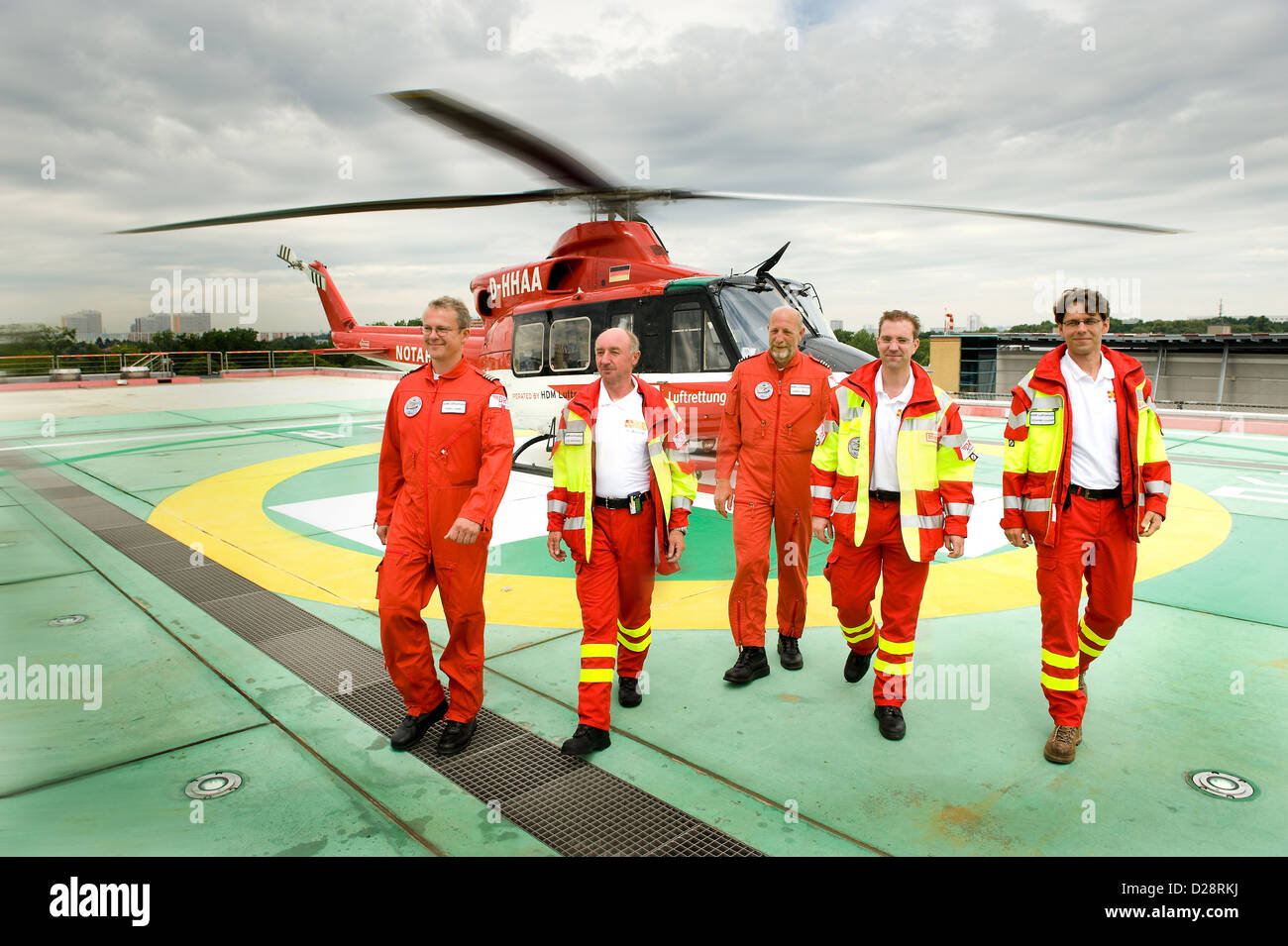 Berlin, Germany, the rescue team of the rescue helicopter Christoph Berlin - Stock Image