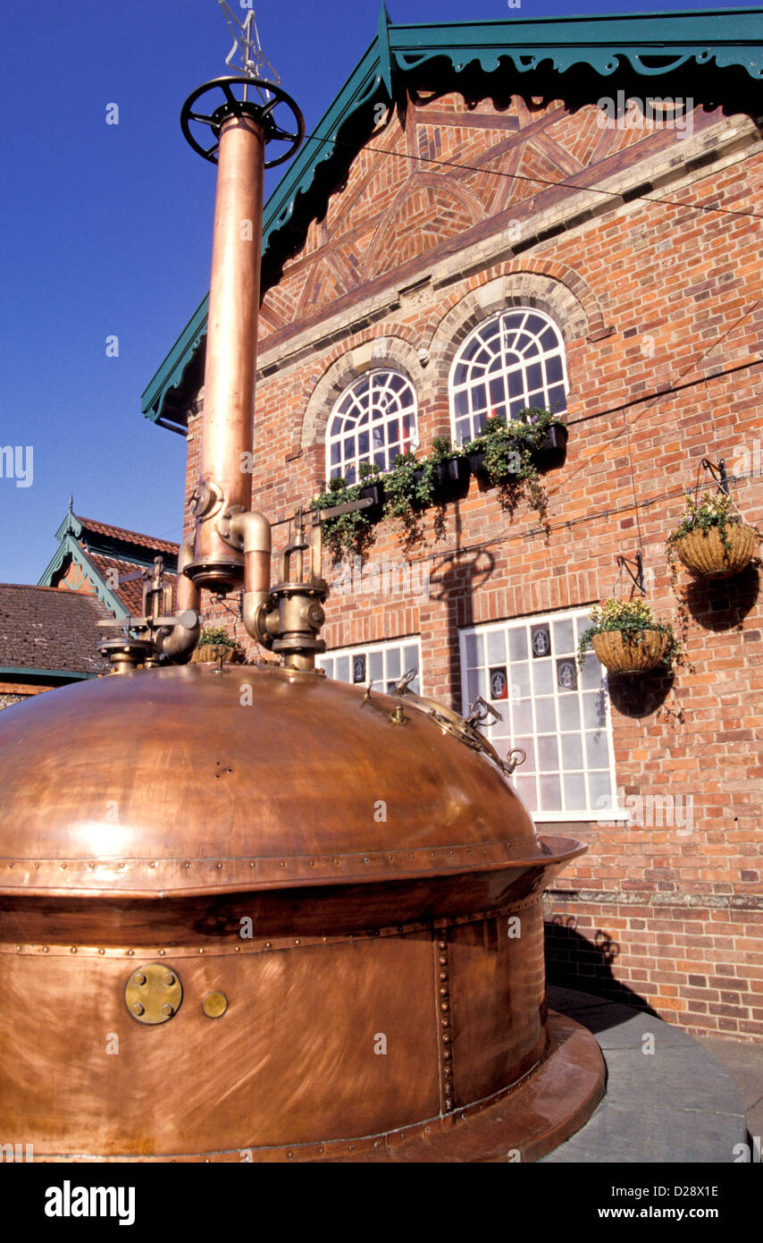 England. Bury St. Edmunds. Greene King Brewery. - Stock Image