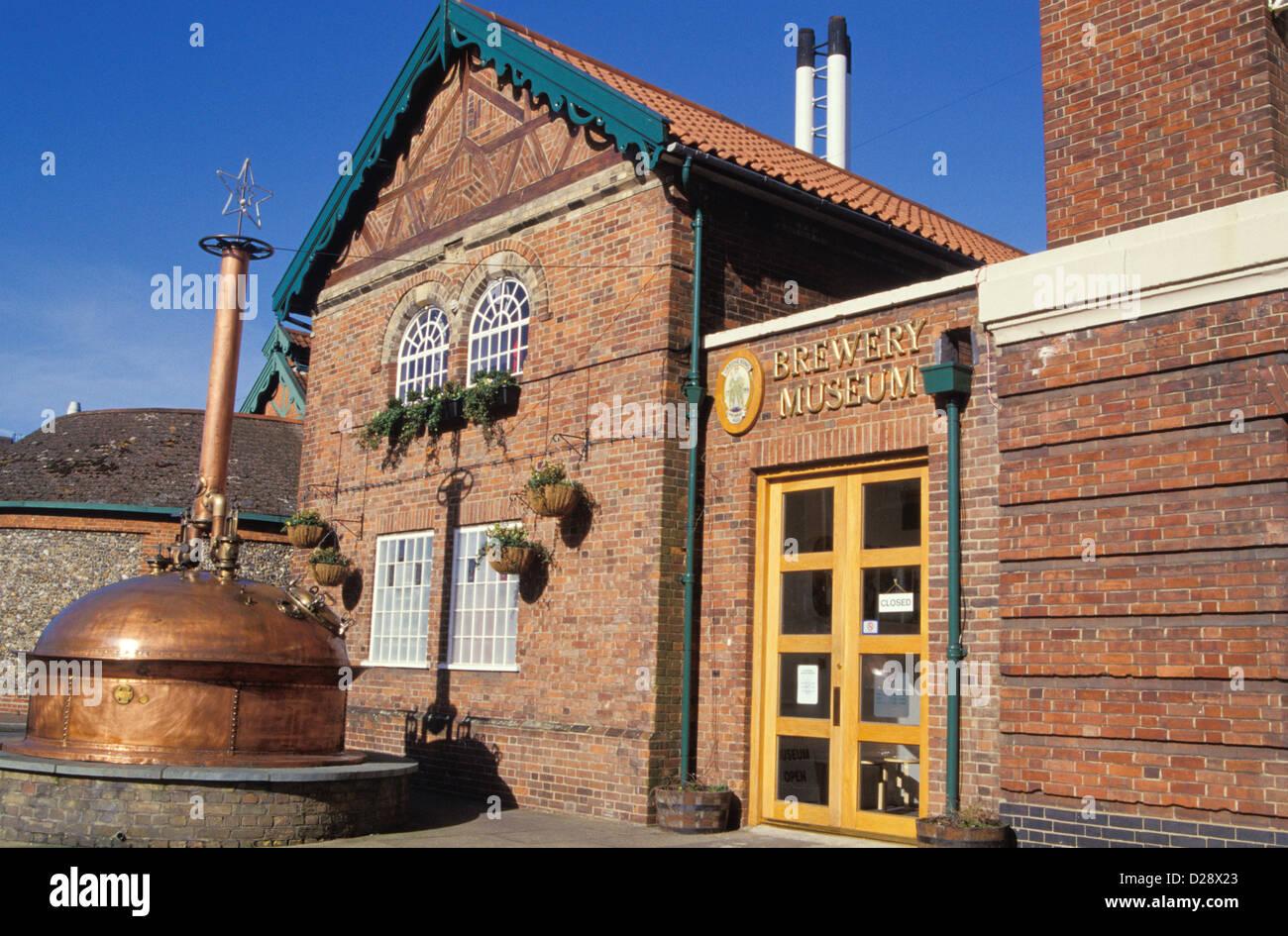 England. Bury St. Edmunds. Greene King Brewery Museum. - Stock Image