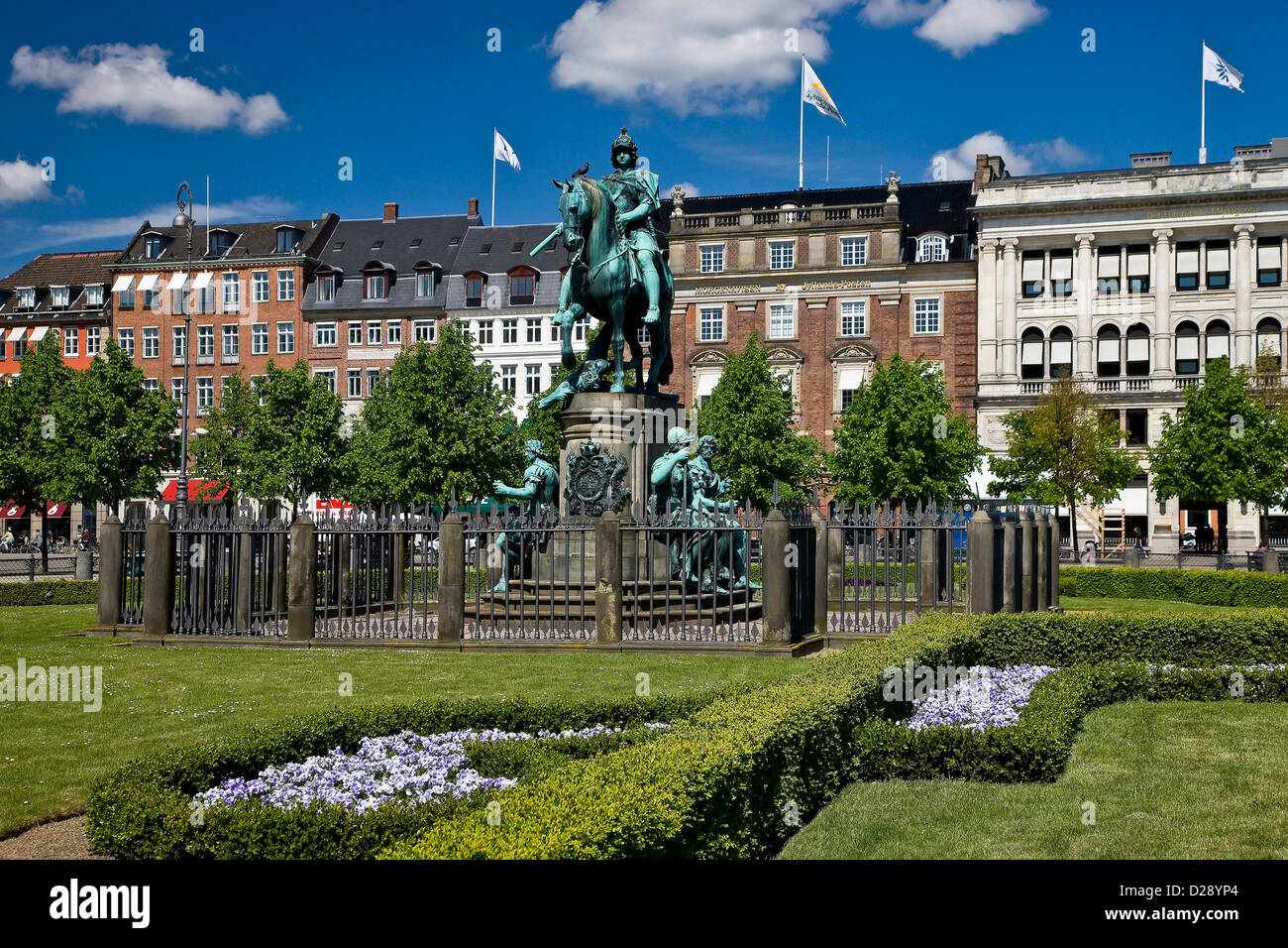 Kongens Nytorv in the center of Cop - Stock Image