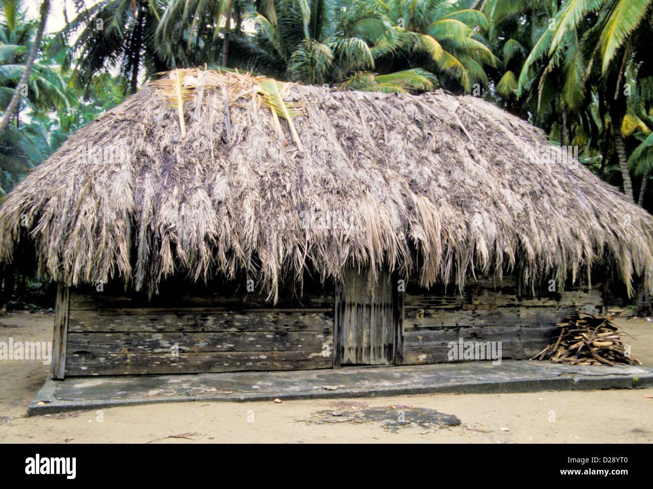 Cuba. Near Baracoa. House. - Stock Image