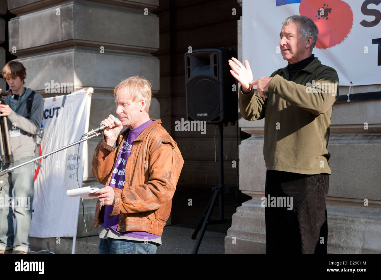 Demonstration against Coalition cuts to disabled people's services and income. - Stock Image