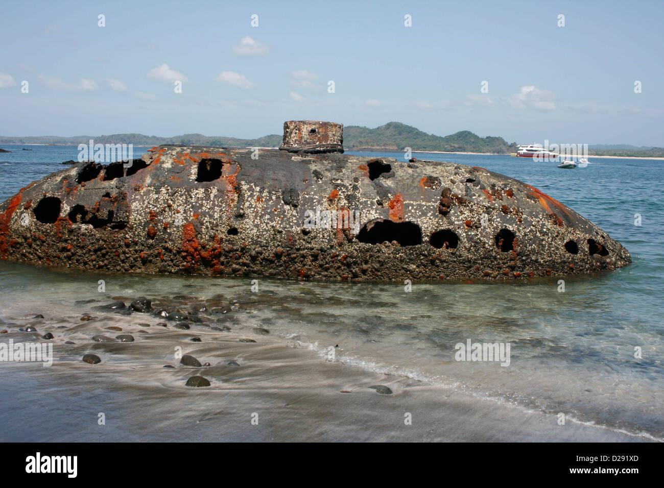 Panama, American Civil War Submarine Sunk Off Las Perlas Islands - Stock Image