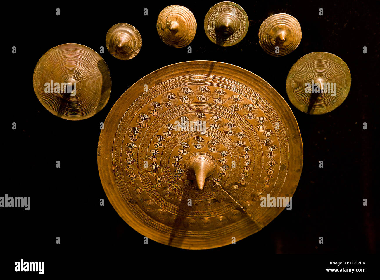 Discs of votive offering from 1400 - Stock Image