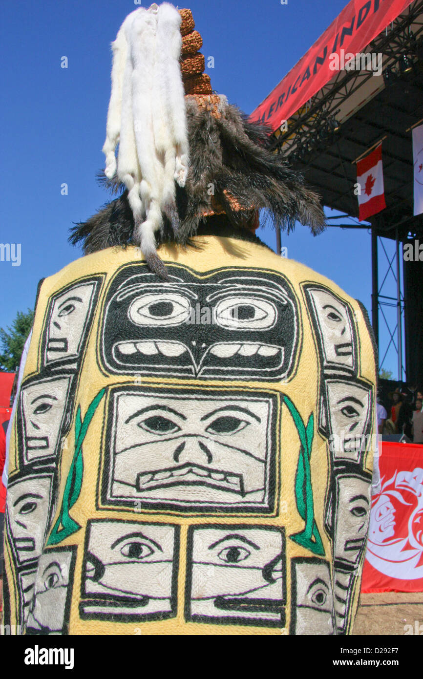 Opening Ceremonies Of North American Indigenous Games, Cowichan 2008, B.C., Canada - Stock Image