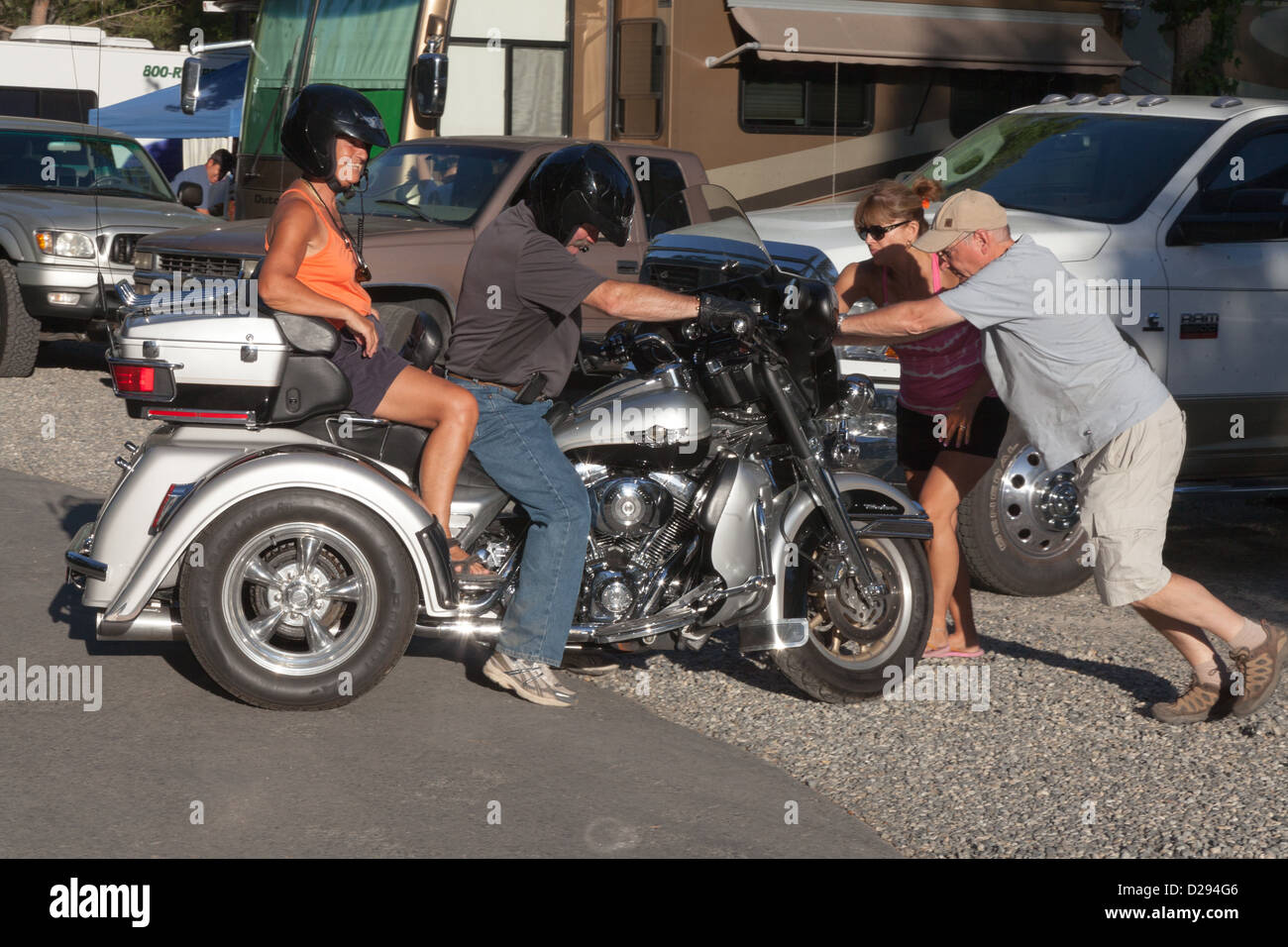 Harley Davidson Trike High Resolution Stock Photography and Images - Alamy