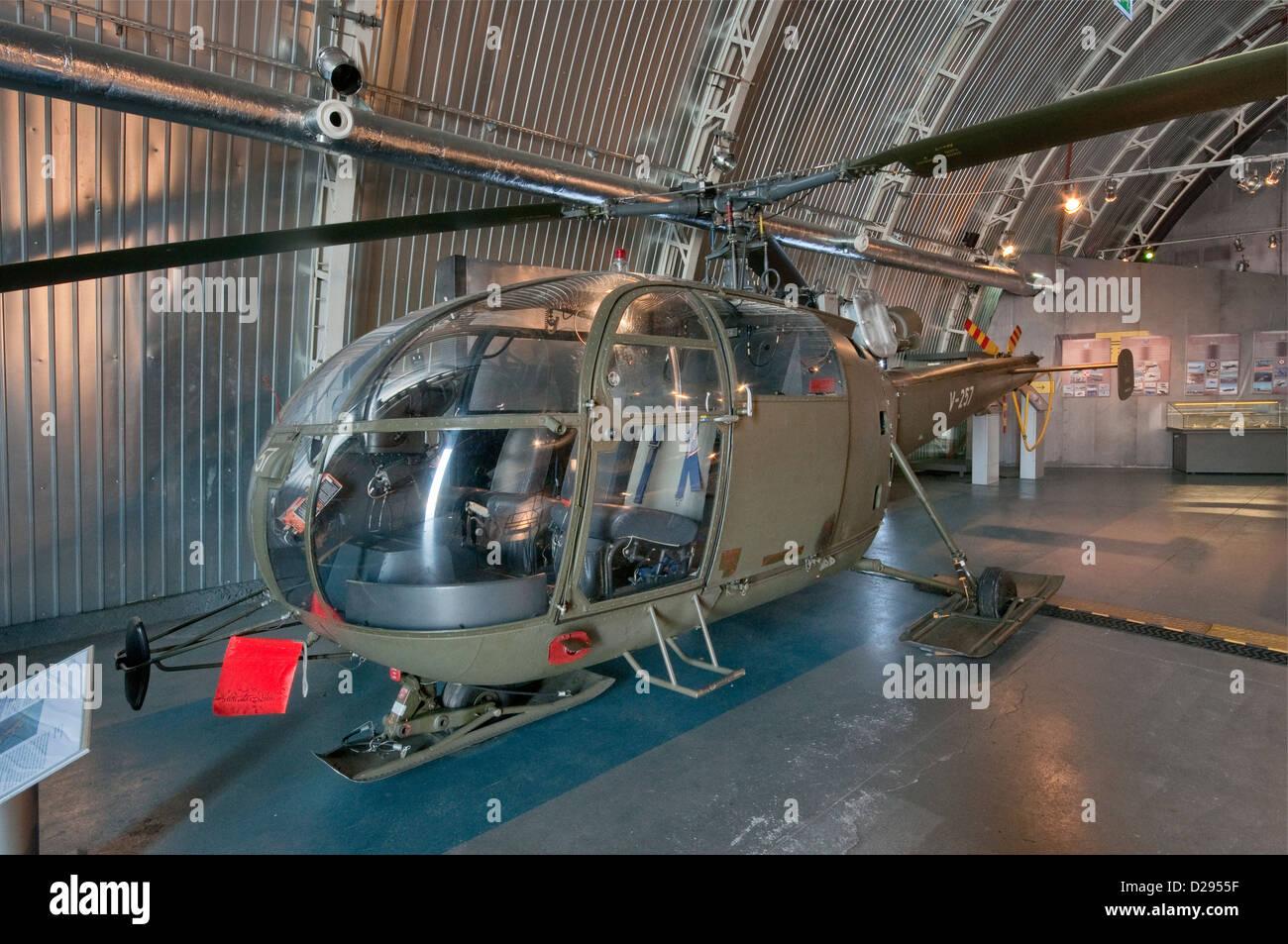 Sud-Aviation SE-3160 Alouette III multipurpose helicopter, Polish Aviation Museum in Krakow, Poland - Stock Image