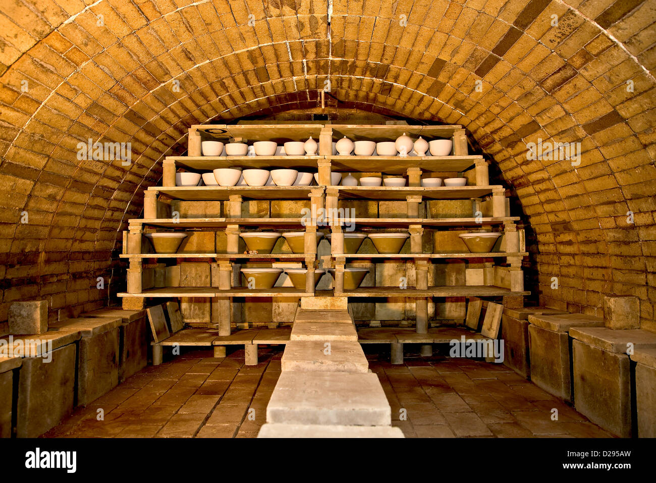 Old Earthenware kiln at the Ecomuse - Stock Image