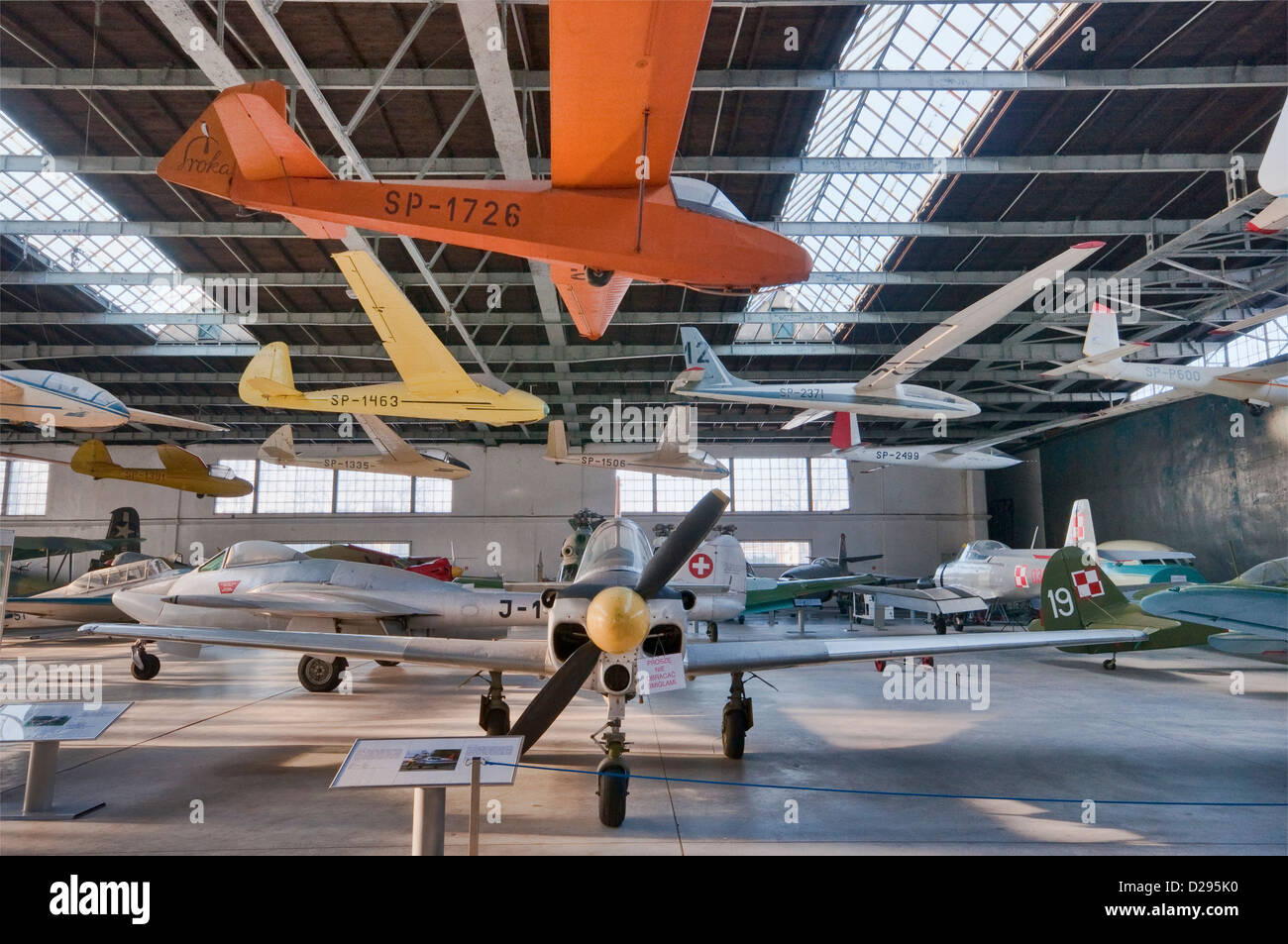 PZL M-4 Tarpan trainer aircraft, Polish Aviation Museum in Krakow, Poland - Stock Image