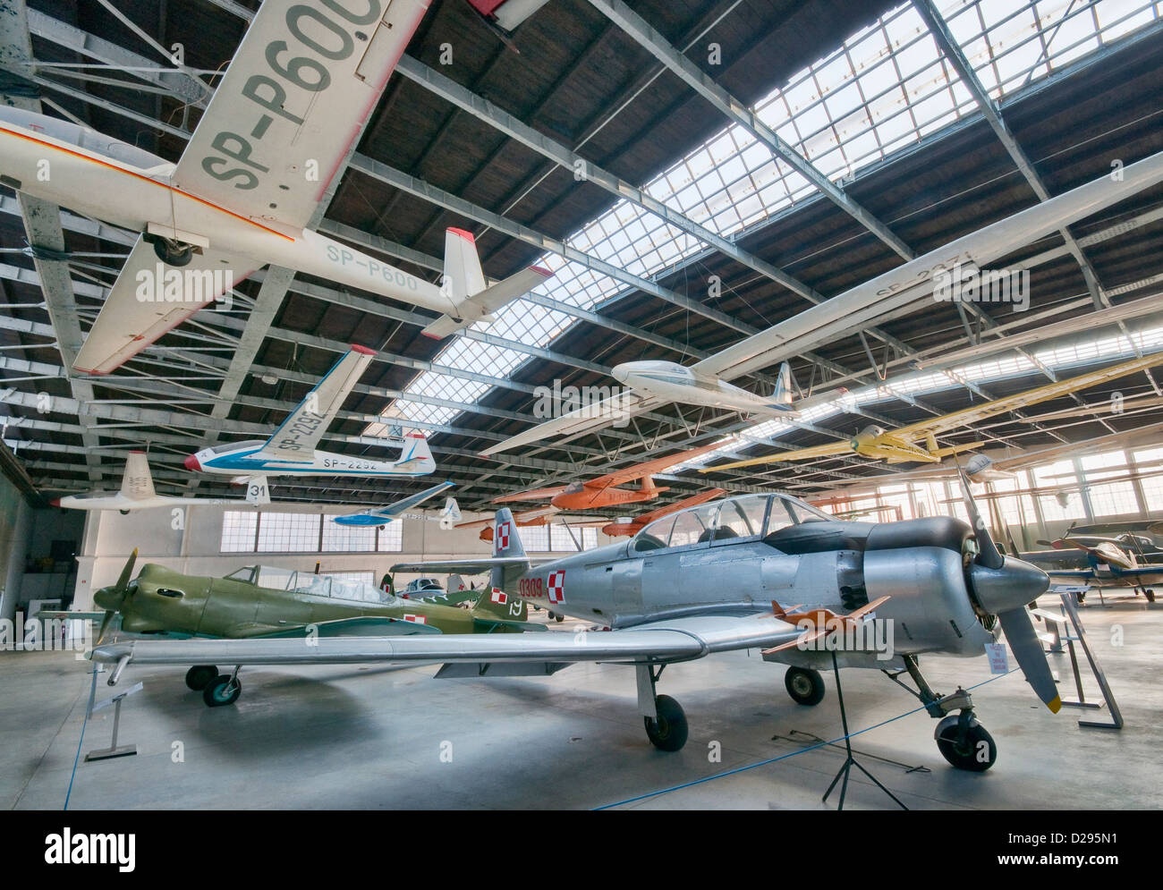 PZL TS-8 Bies, 1950's trainer aircraft, Polish Aviation Museum in Krakow, Poland - Stock Image