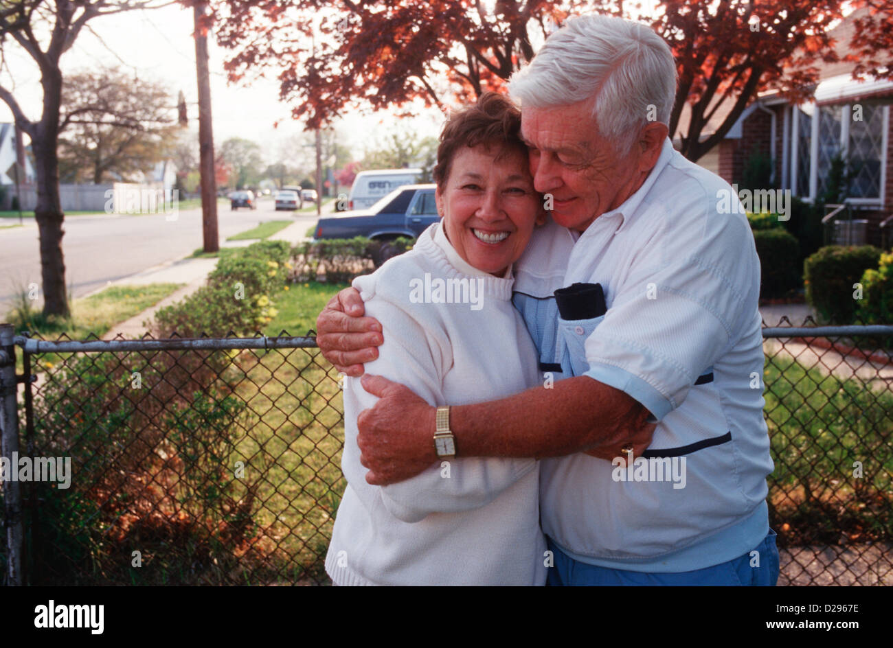 A Senior Couple In Their 70S - Stock Image
