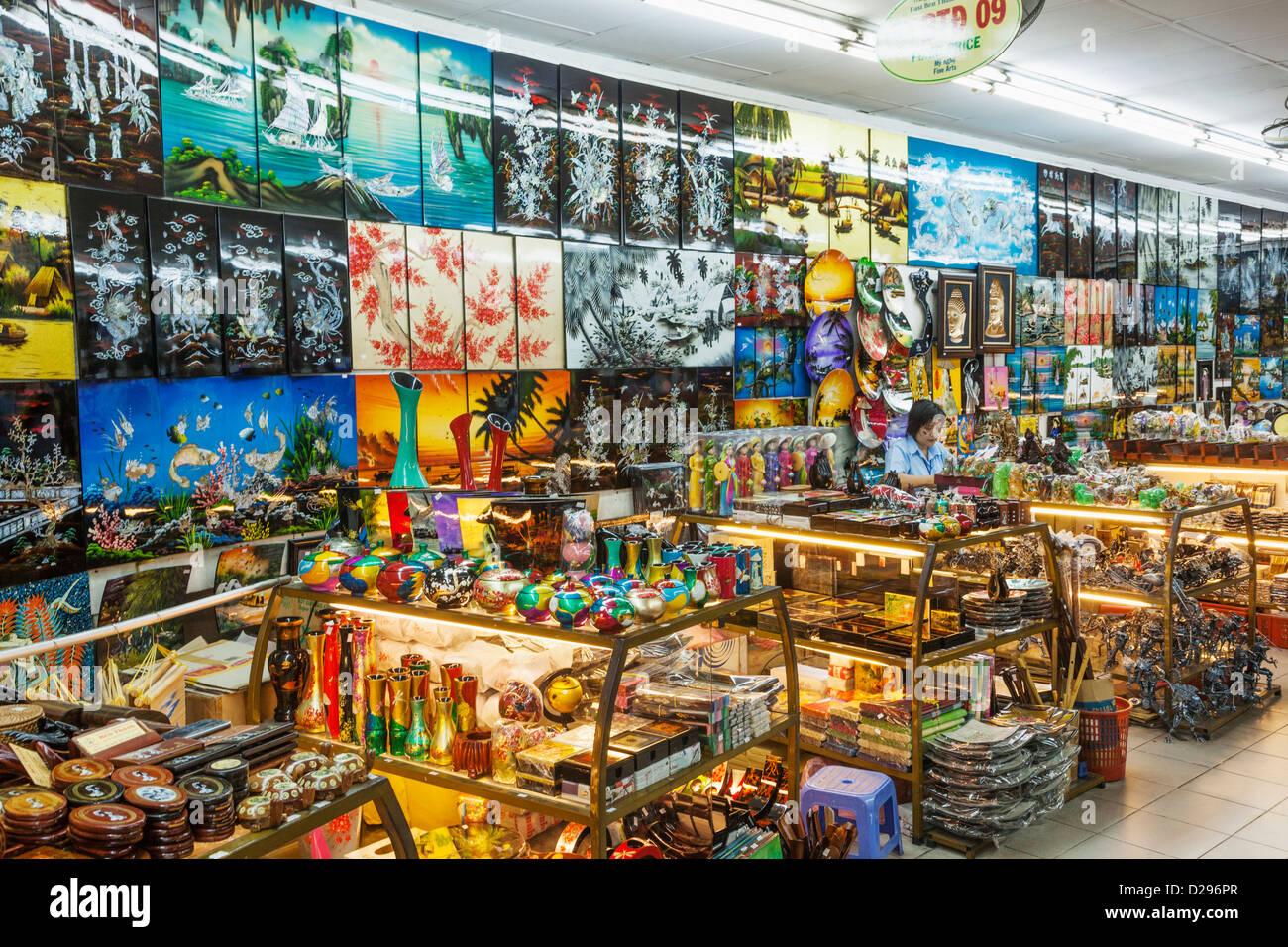 Vietnam Ho Chi Minh City Ben Thanh Market Handicraft Souvenir
