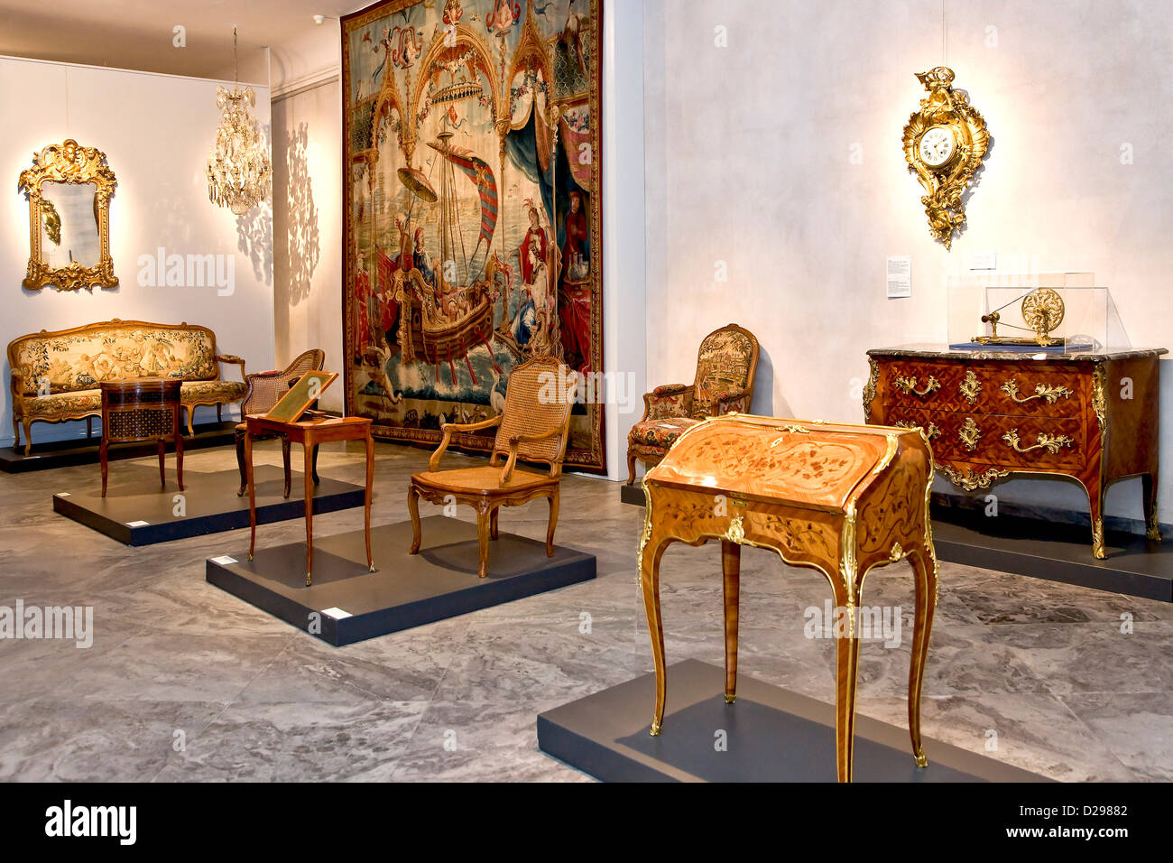 Old Classic Furniture At The Danish   Stock Image