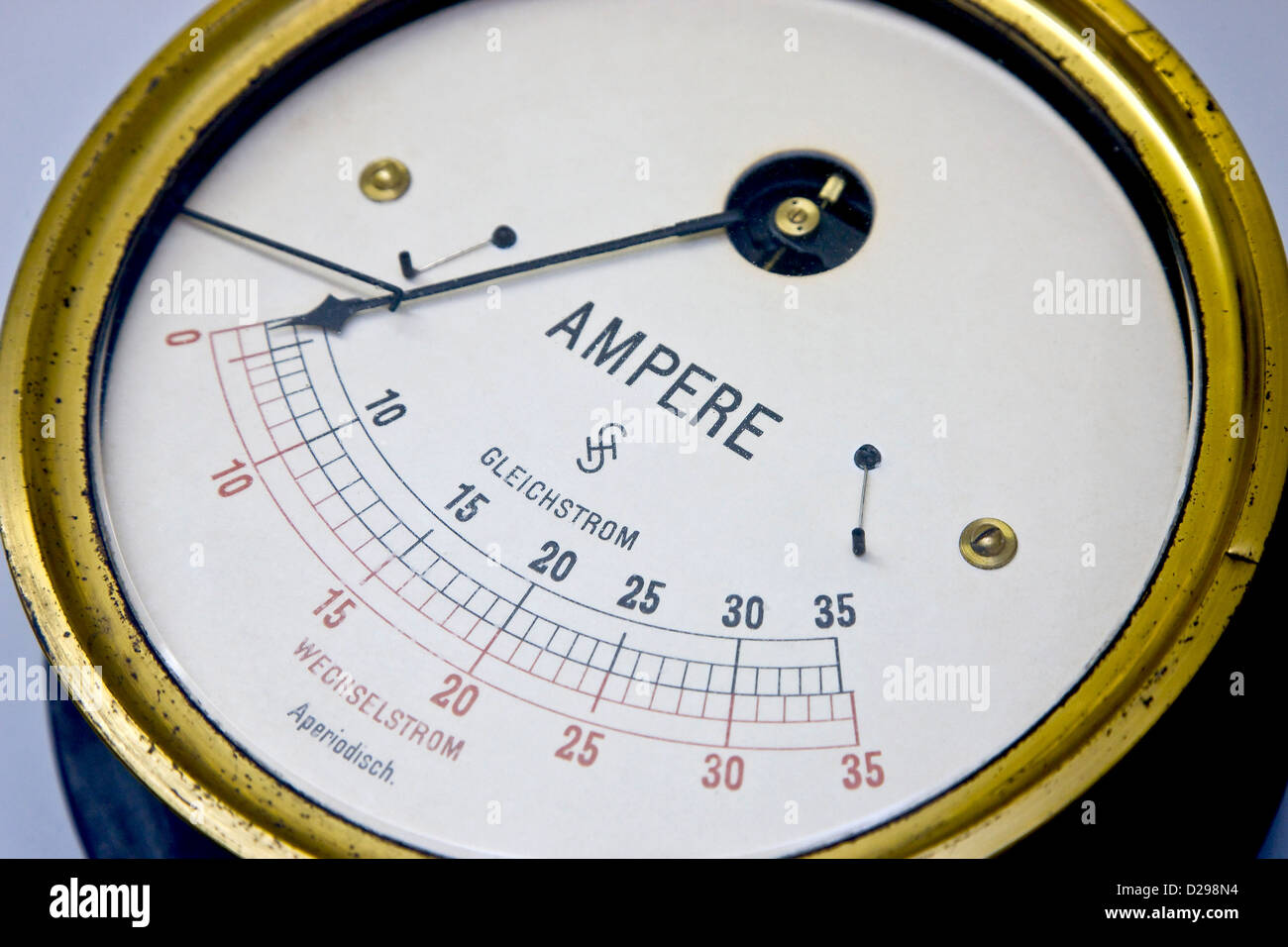 Old vintage ampere meter Stock Photo: 53064848 - Alamy