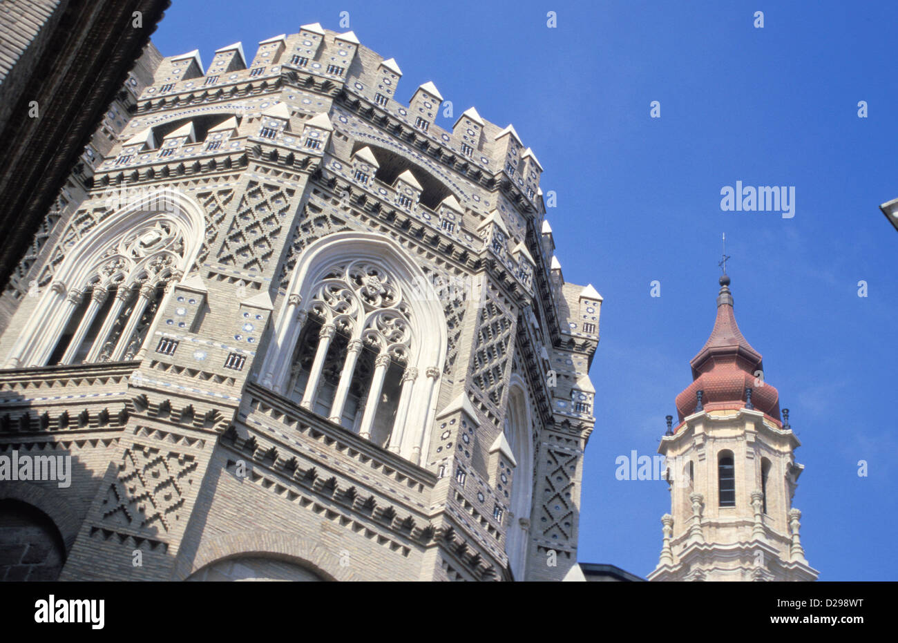 Spain, Zaragoza. La Seo, Mixture Of Architectural Styles. - Stock Image