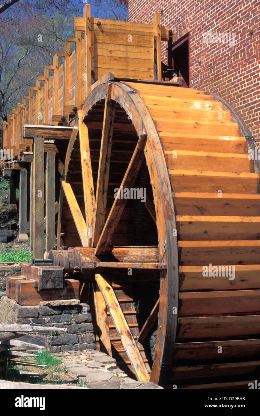 Virginia. Colvin Mill. Water Wheel . Close-Up - Stock Image